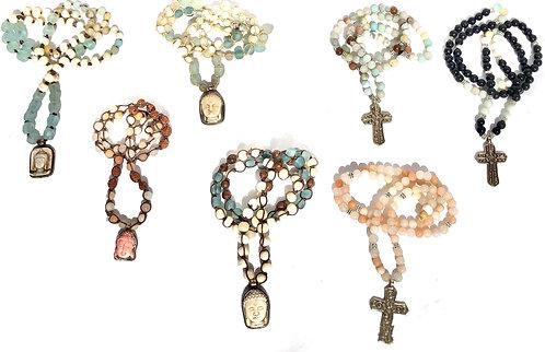 Beaded Cross / Buddha Necklace
