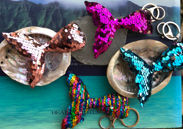 mermaid tail keychains