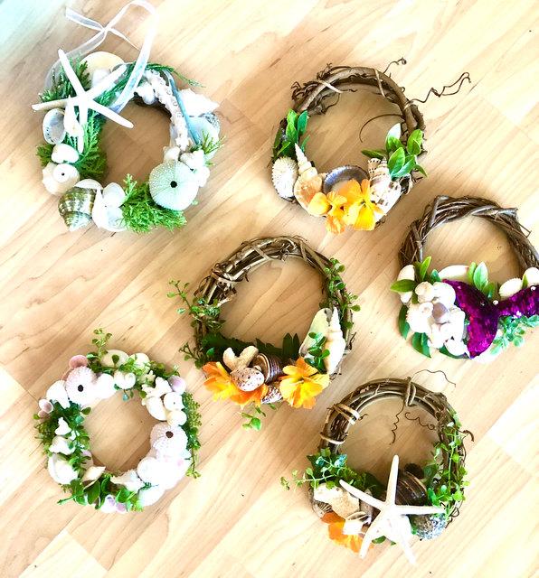 hawaiian floral twig wreath