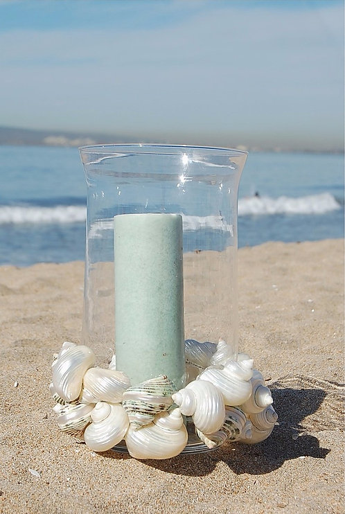 Candle Holder with Hurricane Shells