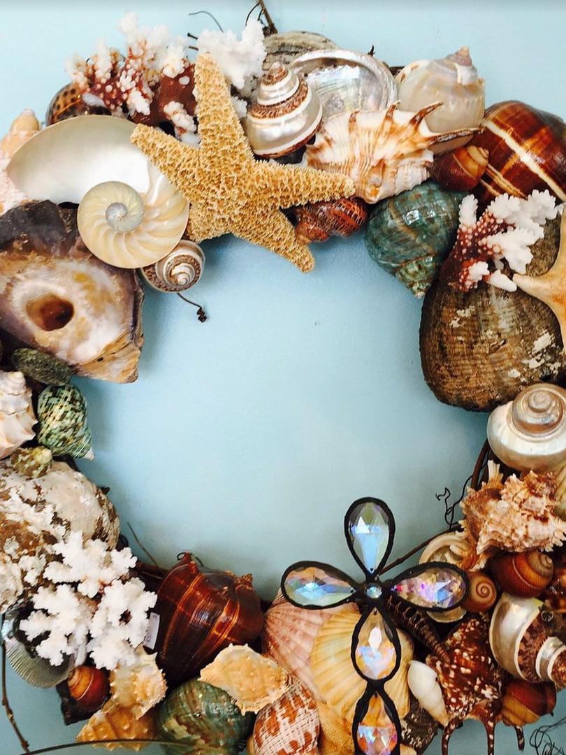 Sepia-tone wreath