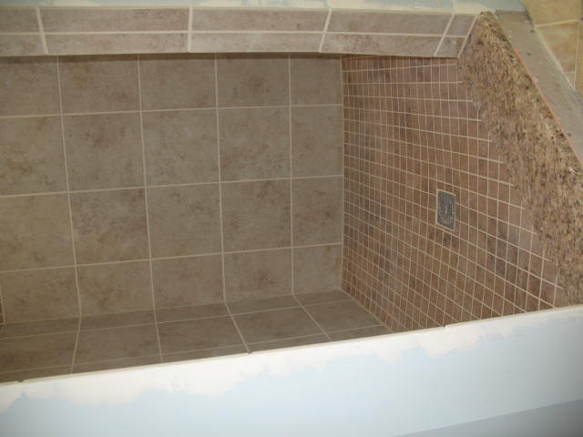 Porcelain tiled Shower