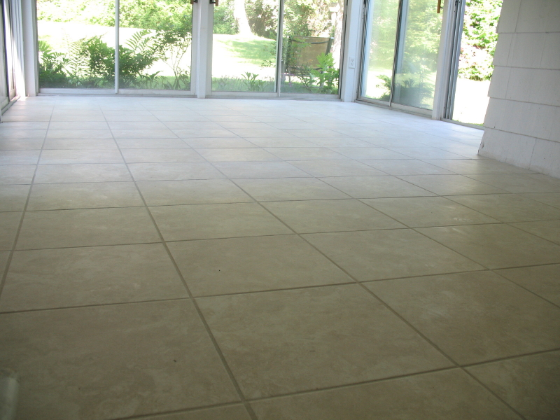 Patio Tiled Floor