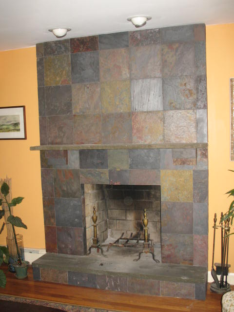 Tiled Fireplace Facade