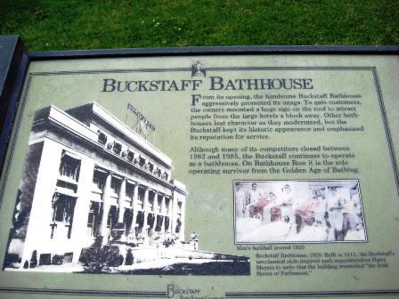 Buckstaff Bathhouse Sign
