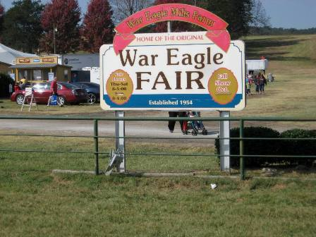 War Eagle Fair Sign