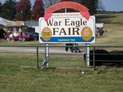 War Eagle Fair Sign