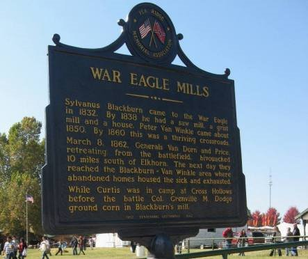 War Eagle Mill sign