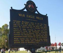 War Eagle Mill sign