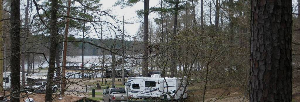 Pan of campsite