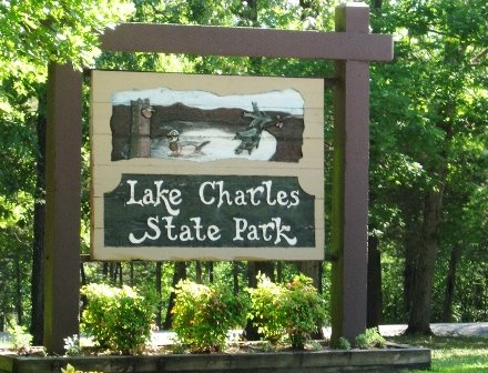 Lake Charles Entrance Sign