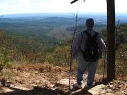 Arlene looking over valley view