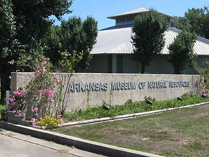 Entrance sign and Visitor Center at Arkansas Museum of Natural Resources