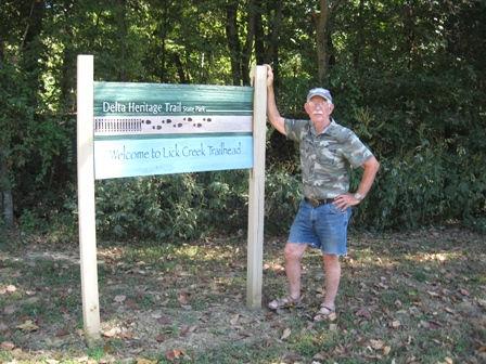 Dick at Lick Creek Trailhead