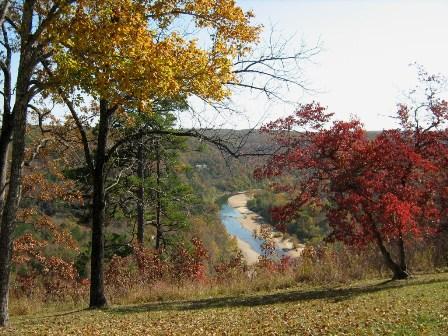 Fall view of Buffalo River