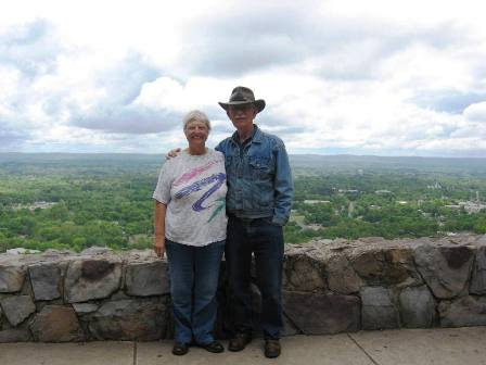 Dick and Arlene with city view