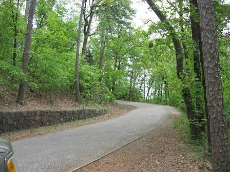 Roadway to mountain top