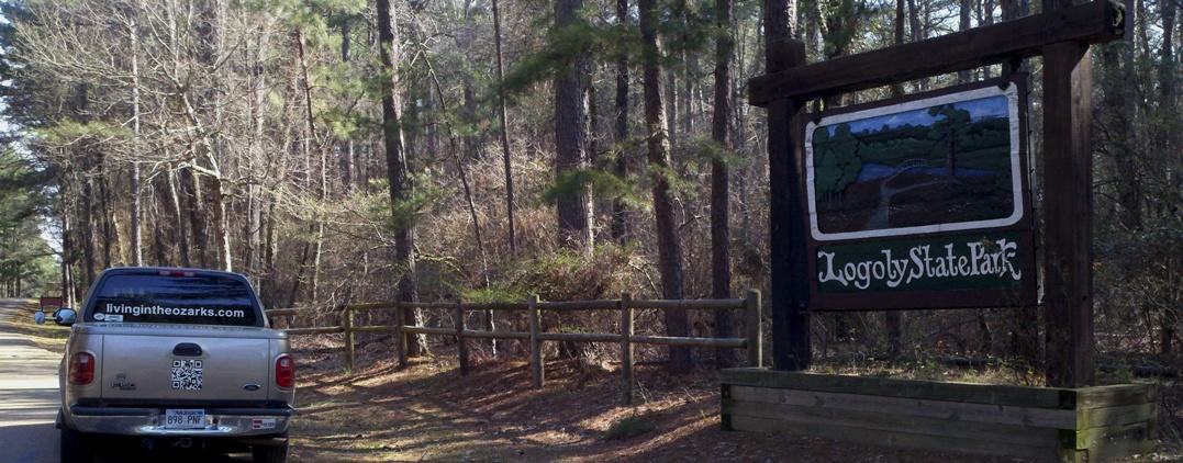 Entrance Sign Logoly State Park