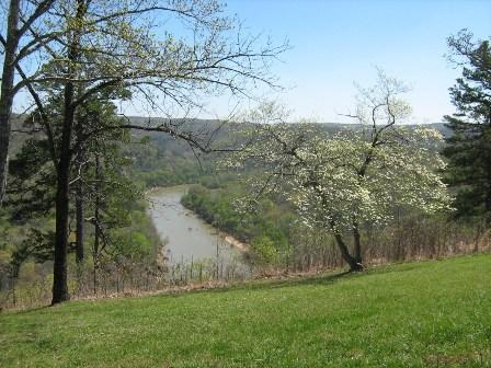 Springtime view of Buffalo River