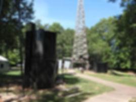 1940's re-created oil site Smackover, AR