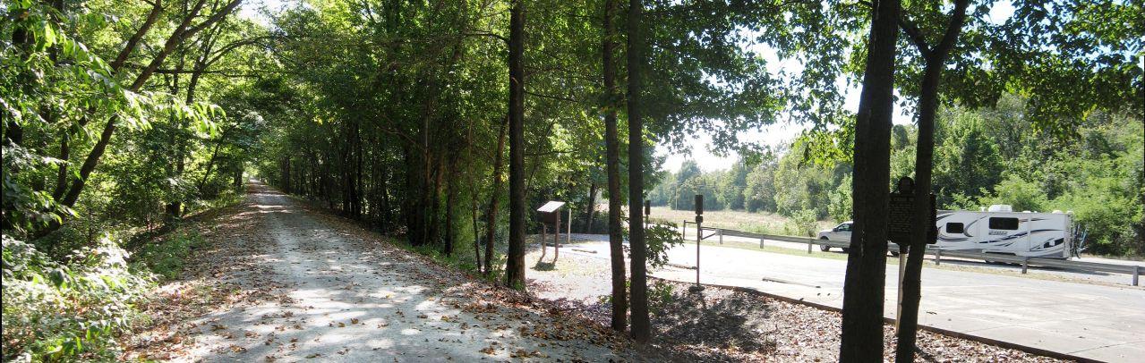 Pan of Lick Creek Trailhead