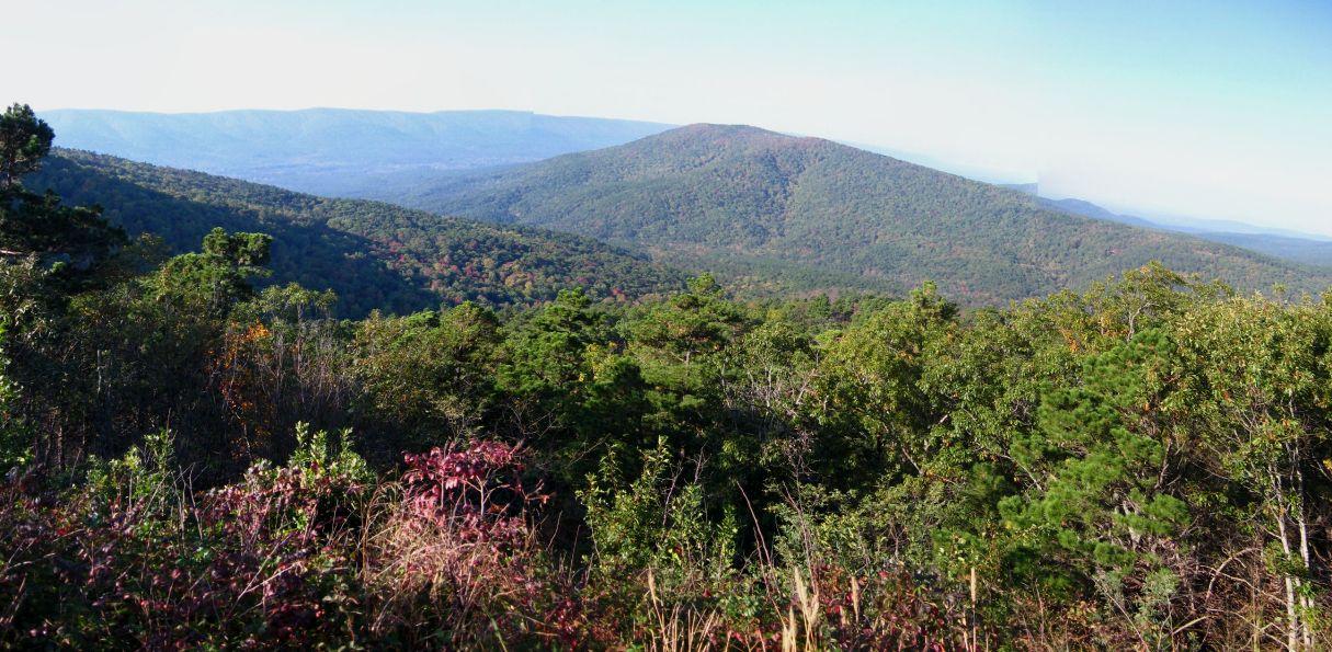 Mountain view along Talimena Drive