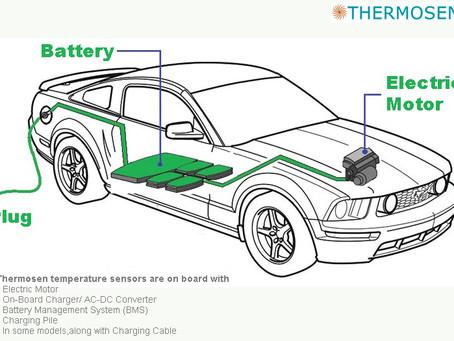 Temperature sensor for Electric vehicles