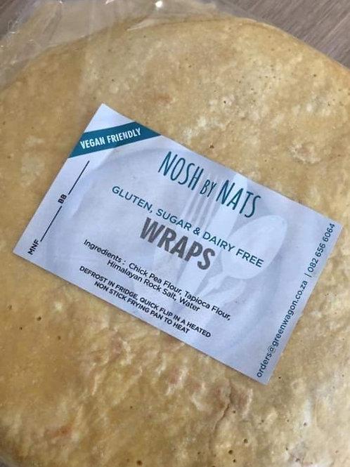 Gluten, Dairy, Sugar free Vegan Friendly Wraps(Pack of 6)