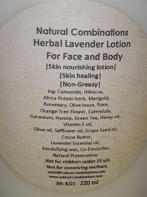 200ml Herbal Lavender Lotion for Face and Body