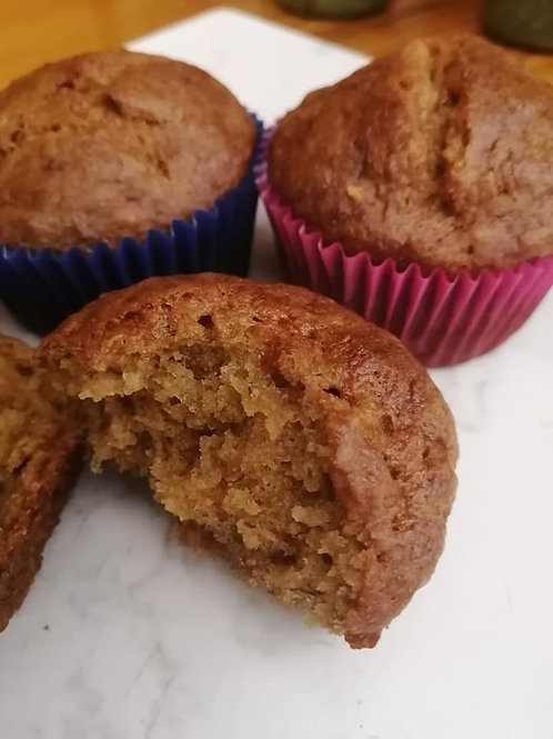 Lactose Free / Gluten free banana muffins (Pack of 6)