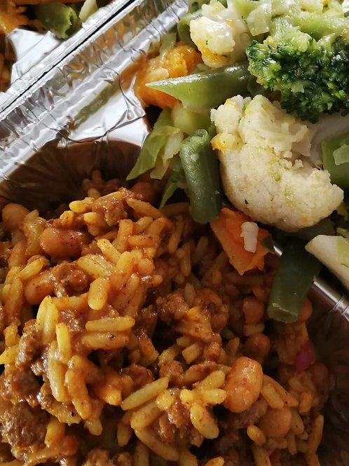 Mince curry and rice 480g