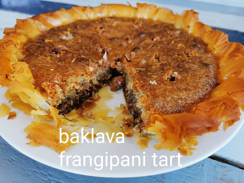 Baklava Frangipani Tart (see description) feeds 4
