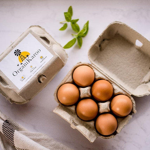 OrganiKaroo free-range chicken eggs 18/tray