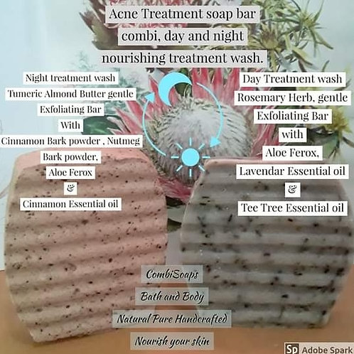 Soap for Acne Treatment - and night and day solution_2 Bars