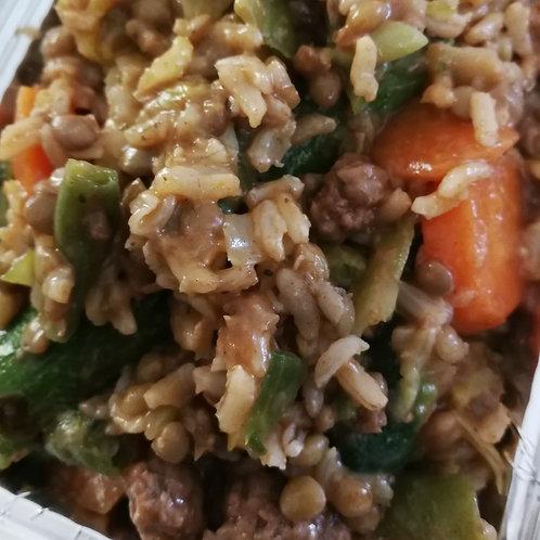 Steak, Lentils & Brown rice 480g
