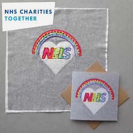 NHS together charity logo on card design