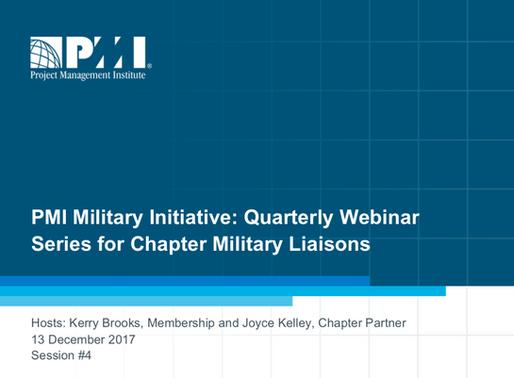PMI Military Initiative: Webinar Series
