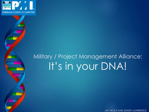 Military / Project Management Alliance: It is in your DNA!