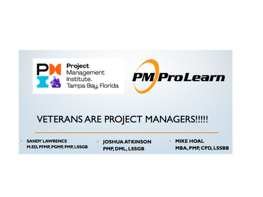 Veterans ARE Project Managers!