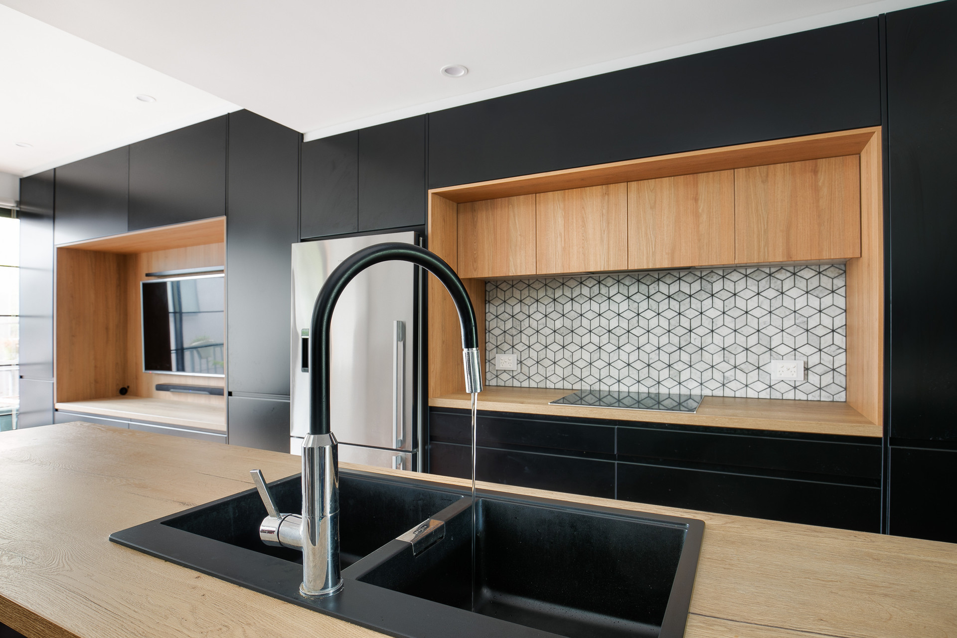 Kitchenworks Brookvale Black Tap Close Up