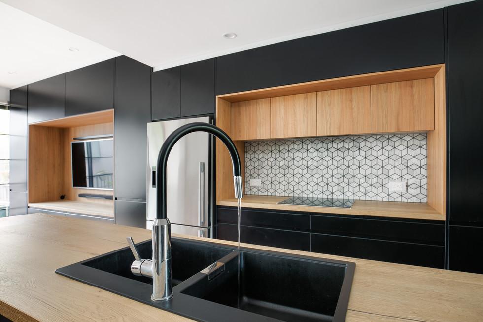 Kitchenworks Brookvale Black Tap Close Up