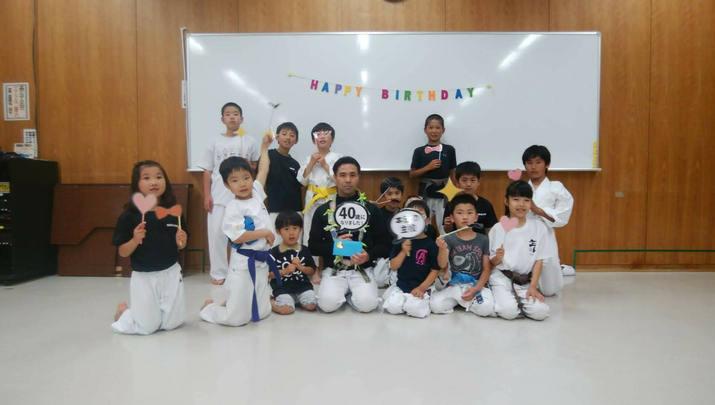師範誕生日お祝い