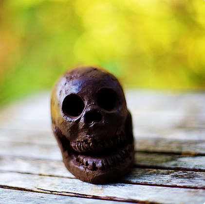 Medium Skull Death Whistle, front view