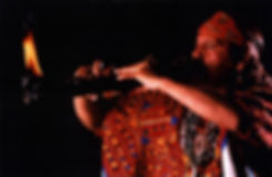 Master Xavier Quijas Yxayotl playing a fire flute