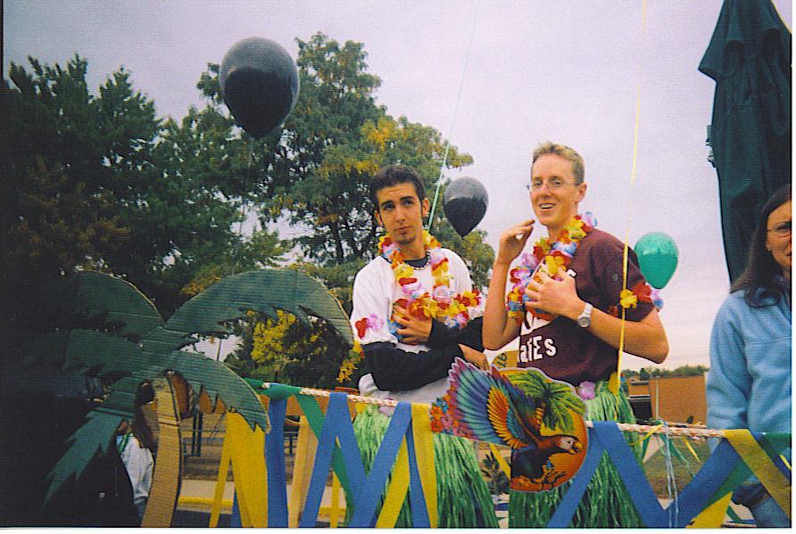 Dahkarina and Alpo on the Band Float