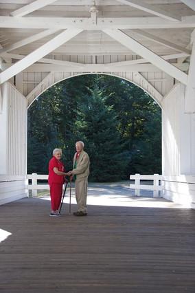 Fran and Curt on the Jordan Bridge.JPG