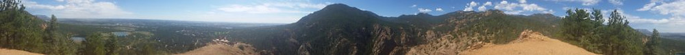 A panoramic view from the top of Mount Cutler, onto Colorado Springs. It is breathtaking!