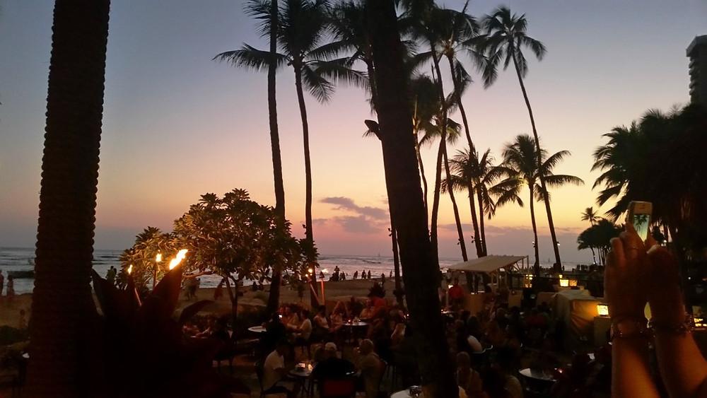 Dinner on Waikiki Beach in Honolulu