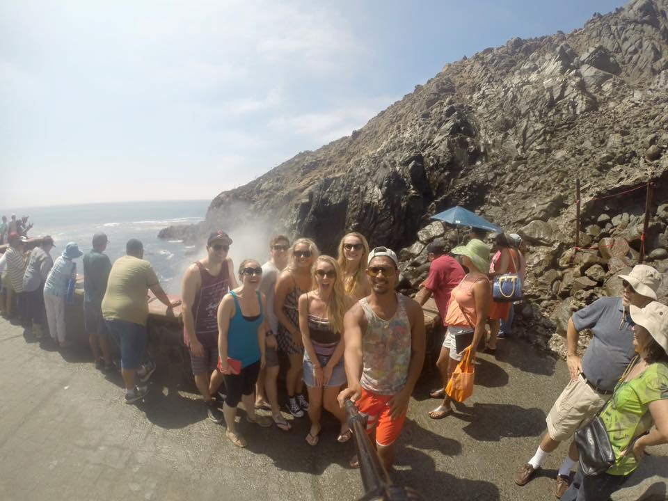 The group in front of La Bufadora