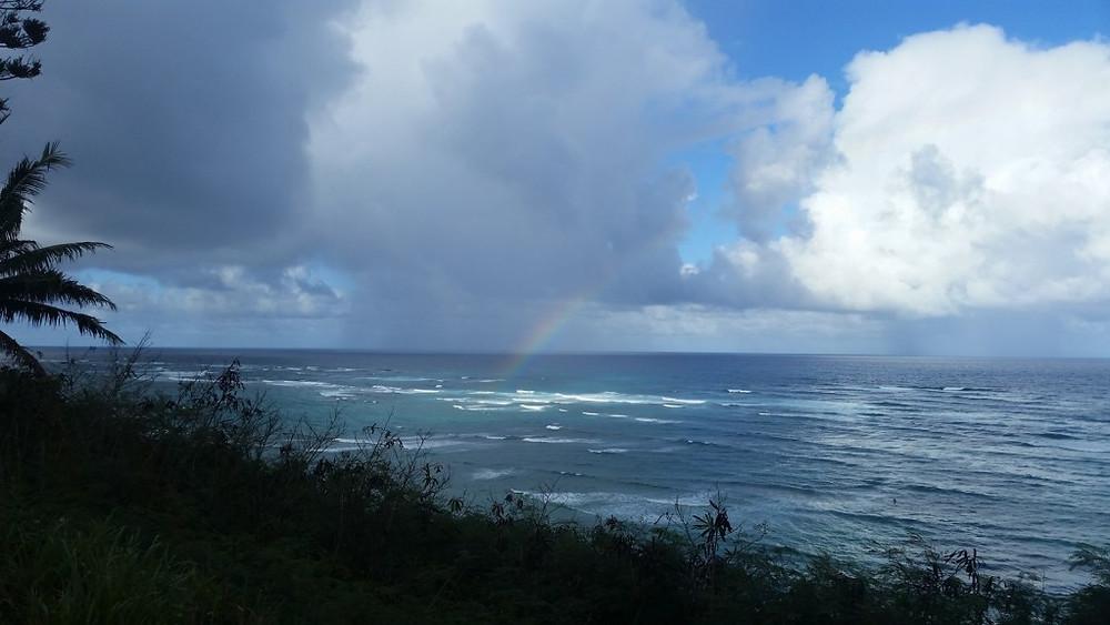 We even got a rainbow!